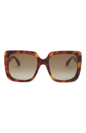 Женские солнцезащитные очки GUCCI коричневого цвета, арт. GG0418 003   Фото 3
