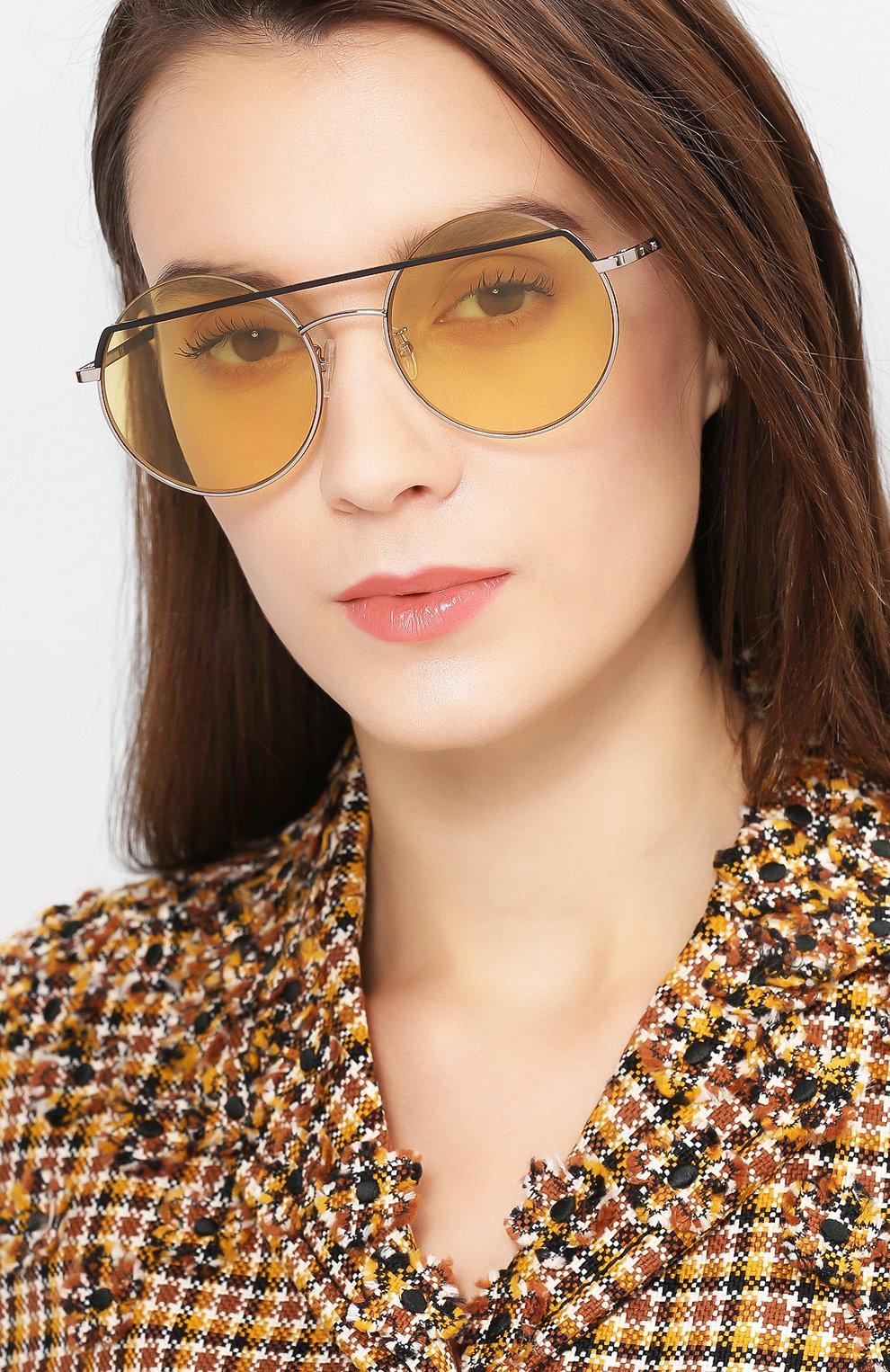 Женские солнцезащитные очки MCQ SWALLOW желтого цвета, арт. MQ0164 003 | Фото 2 (Очки форма: Круглые; Тип очков: С/з; Статус проверки: Проверено, Проверена категория)