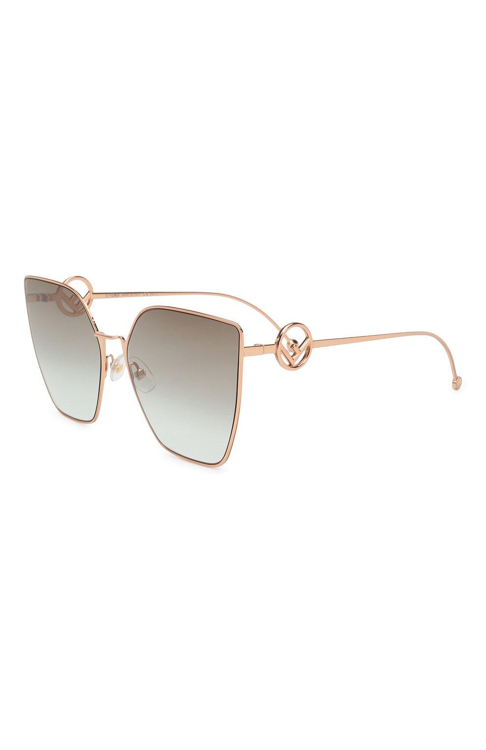 Женские солнцезащитные очки FENDI золотого цвета, арт. 0323 DDB   Фото 1