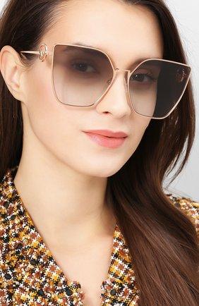 Женские солнцезащитные очки FENDI золотого цвета, арт. 0323 DDB   Фото 2