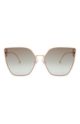 Женские солнцезащитные очки FENDI золотого цвета, арт. 0323 DDB   Фото 3
