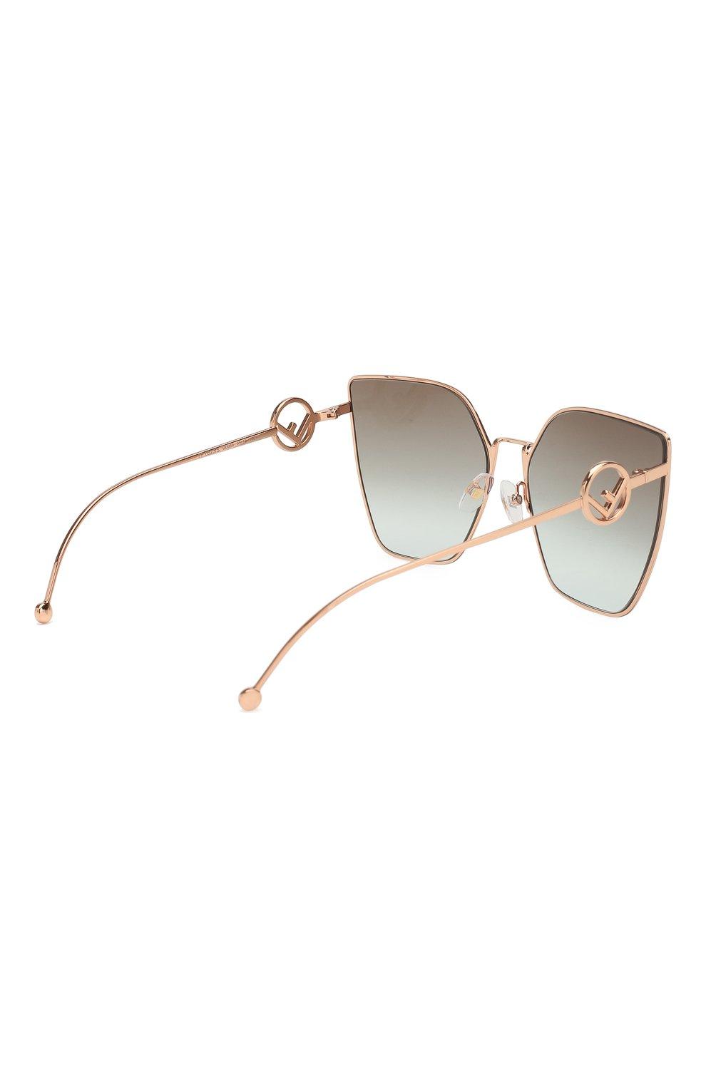 Женские солнцезащитные очки FENDI золотого цвета, арт. 0323 DDB   Фото 4