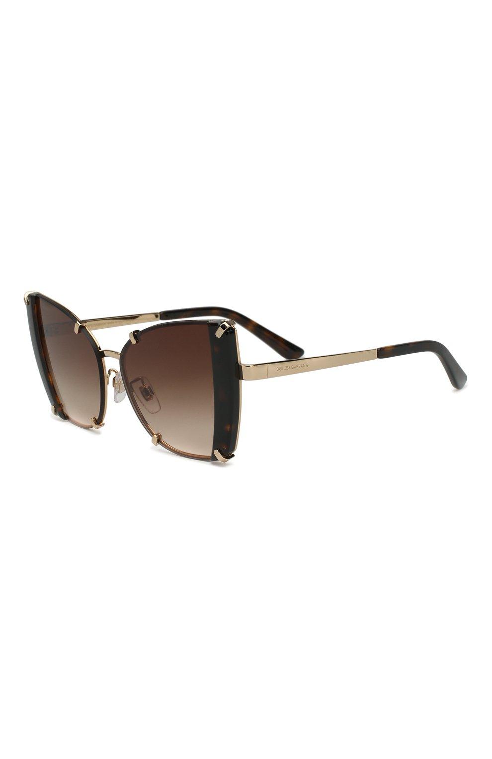 Женские солнцезащитные очки DOLCE & GABBANA коричневого цвета, арт. 2214-02/13   Фото 1