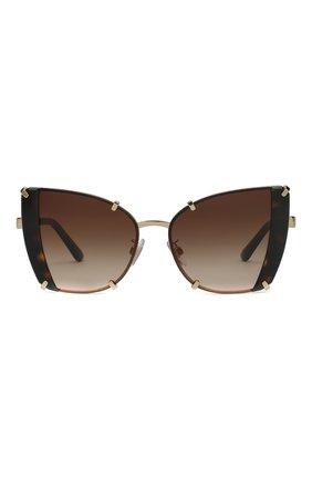 Женские солнцезащитные очки DOLCE & GABBANA коричневого цвета, арт. 2214-02/13   Фото 3