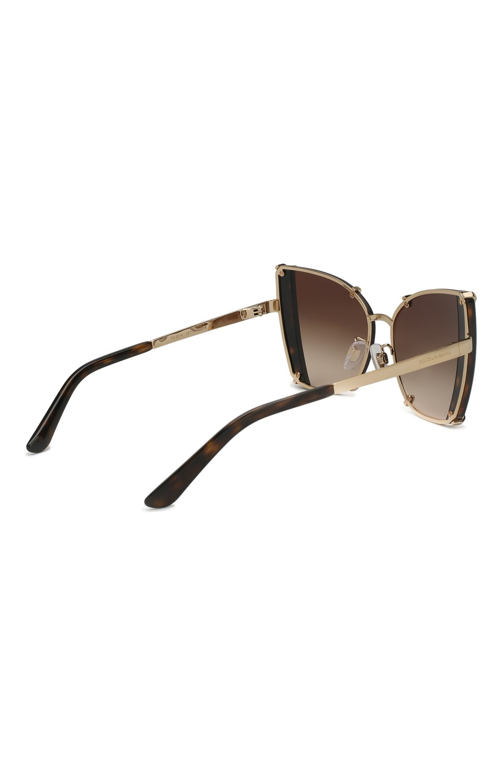 Женские солнцезащитные очки DOLCE & GABBANA коричневого цвета, арт. 2214-02/13   Фото 4