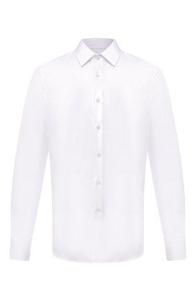 Мужская хлопковая рубашка PRADA белого цвета, арт. UCM608-F62-F0009 | Фото 1