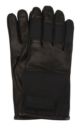 Мужские кожаные перчатки PRADA черного цвета, арт. 2GG067-303-F0002 | Фото 1