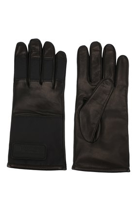 Мужские кожаные перчатки PRADA черного цвета, арт. 2GG067-303-F0002 | Фото 2