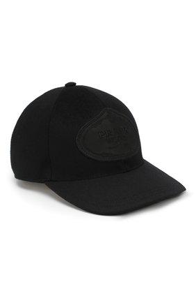 Мужской шерстяная бейсболка PRADA черного цвета, арт. 2HC143-180-F0002 | Фото 1