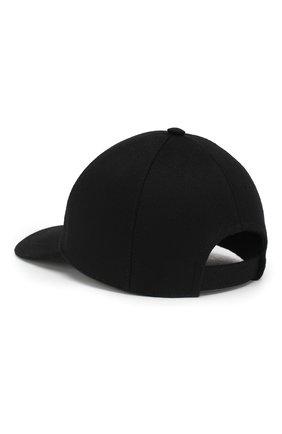 Мужской шерстяная бейсболка PRADA черного цвета, арт. 2HC143-180-F0002 | Фото 2