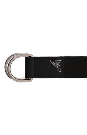 Мужской текстильный ремень PRADA черного цвета, арт. 2CN028-BV1-F0002 | Фото 3