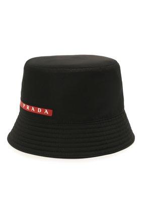Мужская панама prada linea rossa PRADA черного цвета, арт. 2HC137-1L4K-F0002 | Фото 1 (Материал: Текстиль, Синтетический материал)