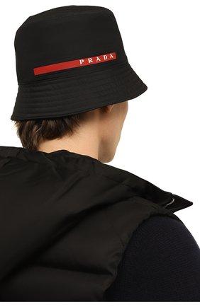 Мужская панама prada linea rossa PRADA черного цвета, арт. 2HC137-1L4K-F0002 | Фото 2 (Материал: Текстиль, Синтетический материал)