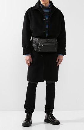 Мужские кожаные ботинки PRADA черного цвета, арт. 2TE129-ZJY-F0002 | Фото 2