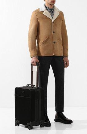 Мужской текстильный чемодан на колесиках PRADA черного цвета, арт. 2VQ004-64-F0002-OOO | Фото 2 (Статус проверки: Проверена категория; Материал: Текстиль; Ограничения доставки: oversized)