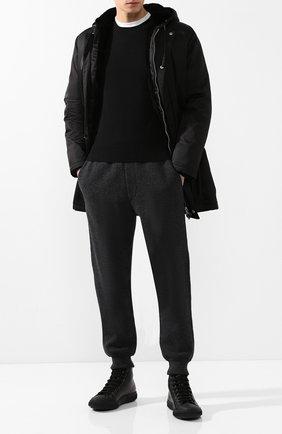 Мужской кашемировый джемпер PRADA черного цвета, арт. UMA282-1HZN-F0002 | Фото 2