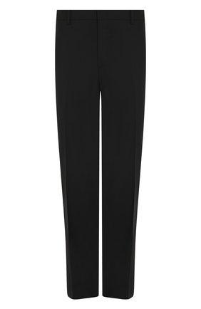 Мужской шерстяные брюки  PRADA черного цвета, арт. UPA841-D39-F0002   Фото 1
