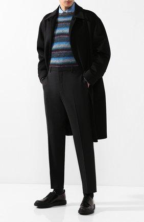 Мужской шерстяные брюки  PRADA черного цвета, арт. UPA841-D39-F0002   Фото 2