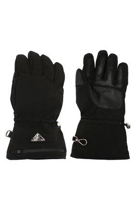 Мужские утепленные перчатки PRADA черного цвета, арт. 2GG089-1L4K-F0002 | Фото 2