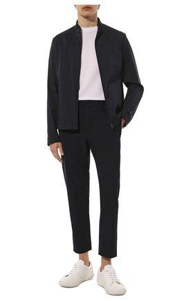 Мужские брюки прямого кроя PRADA синего цвета, арт. SPF94-1KJW-F0124 | Фото 2