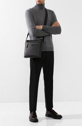 Мужская кожаная сумка-планшет PRADA черного цвета, арт. 2VH062-9Z2-F0002-OOO | Фото 2