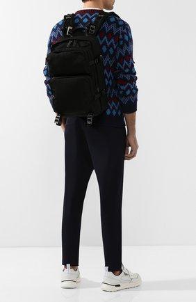 Мужской текстильный рюкзак PRADA черного цвета, арт. 2VZ001-973-F0002-OOO | Фото 2