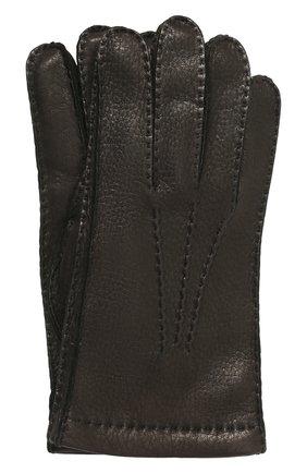 Мужские кожаные перчатки PRADA черного цвета, арт. 2GG005-13-F0002 | Фото 1