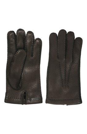 Мужские кожаные перчатки PRADA черного цвета, арт. 2GG005-13-F0002 | Фото 2