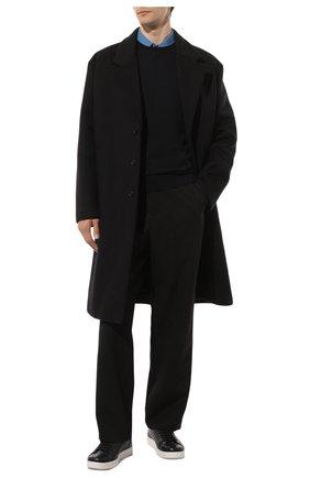 Мужской шерстяной джемпер PRADA синего цвета, арт. UMM984-C5W-F0SVF | Фото 2