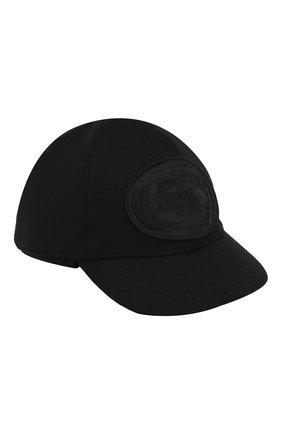 Мужской шерстяная бейсболка PRADA черного цвета, арт. 2HC601-180-F0002 | Фото 1