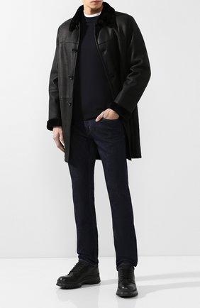 Мужские джинсы прямого кроя PRADA синего цвета, арт. GEP178-1P8Q-F0008 | Фото 2