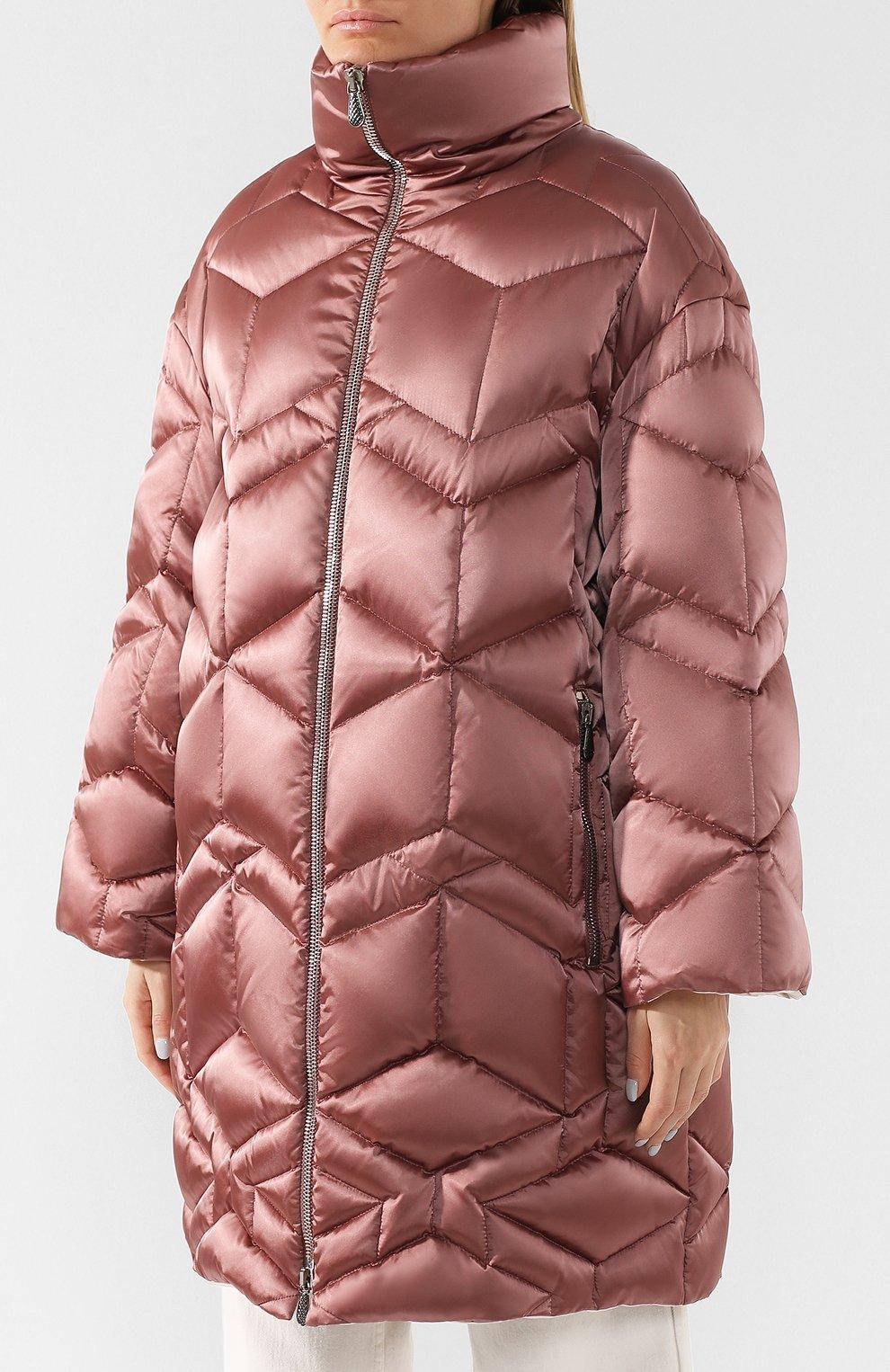 Стеганая куртка с воротником-стойкой | Фото №3