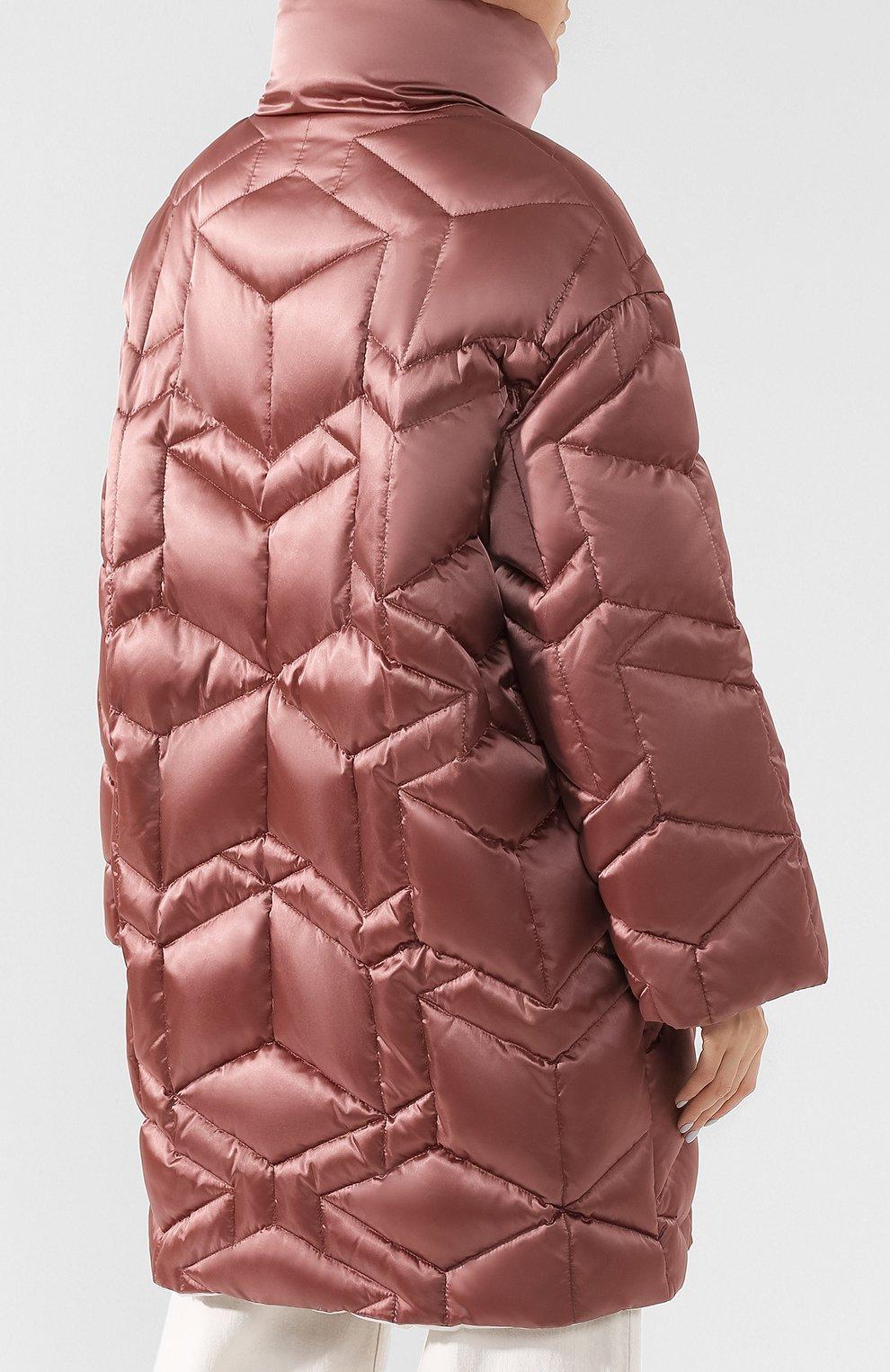 Стеганая куртка с воротником-стойкой | Фото №4