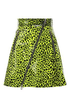 Кожаная юбка с принтом | Фото №1