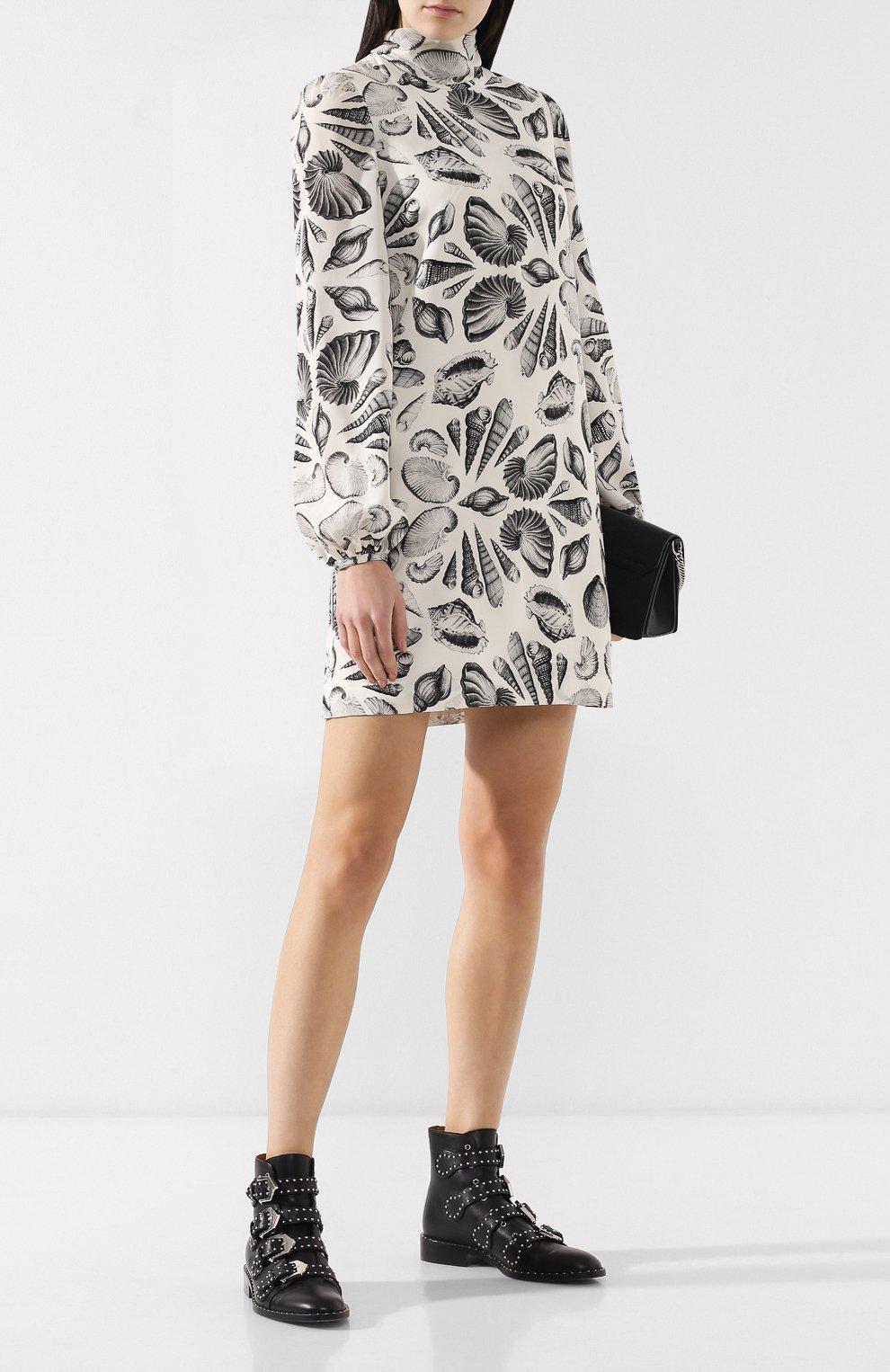 Шелковое платье с принтом   Фото №2