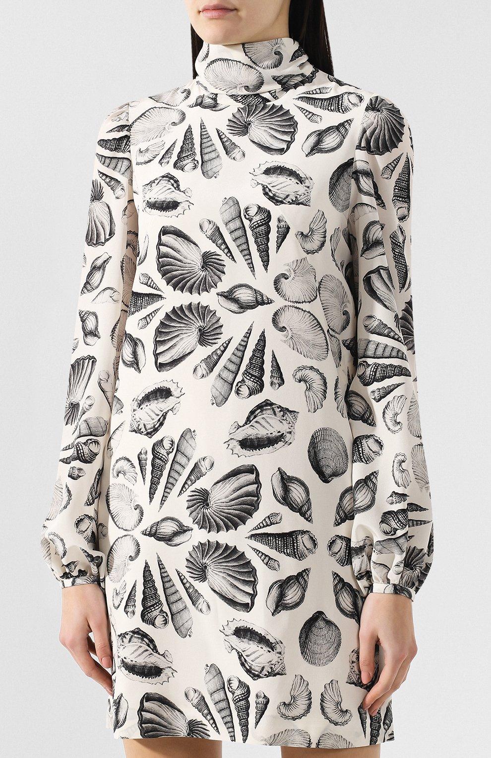 Шелковое платье с принтом   Фото №3