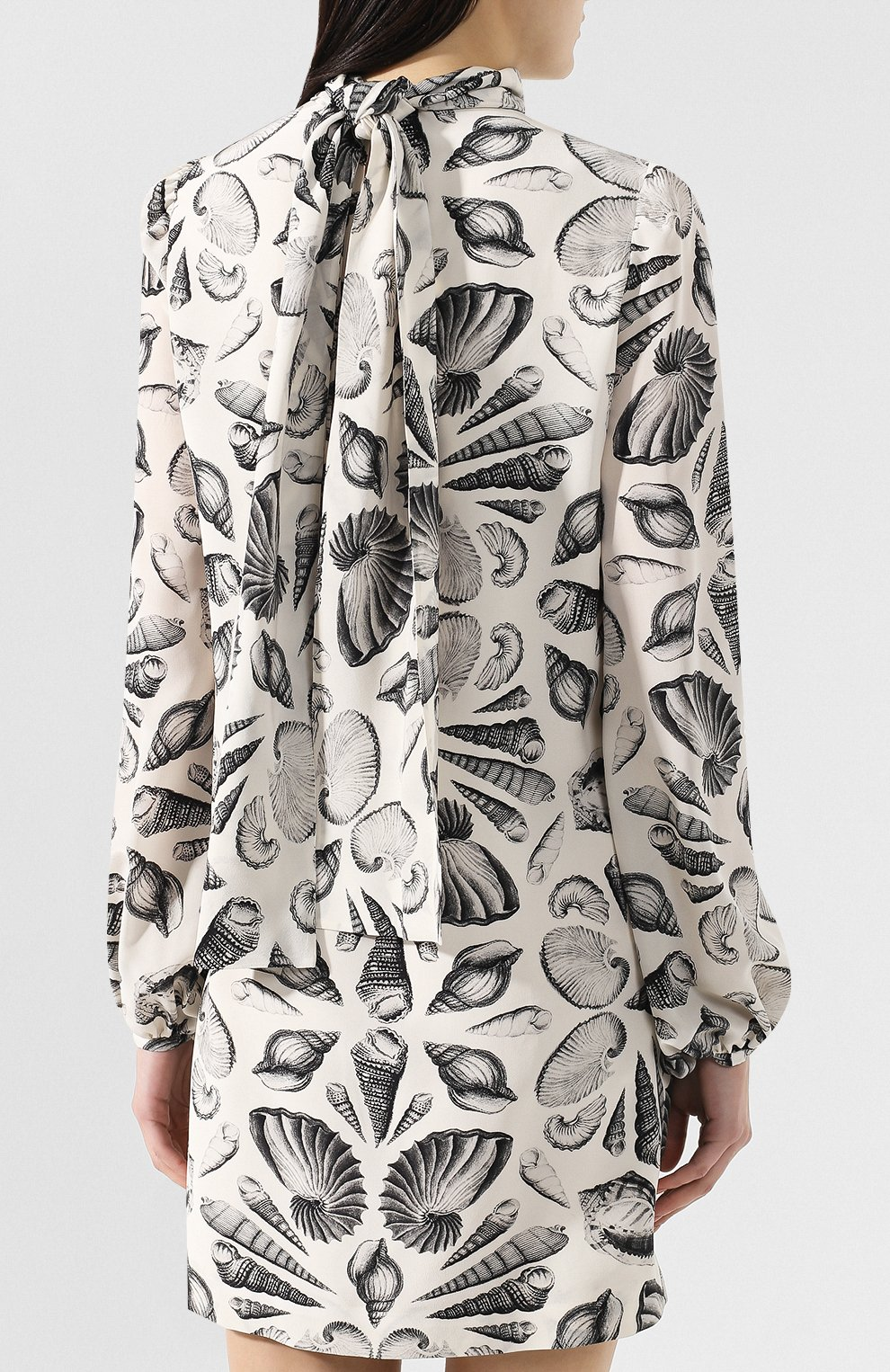 Шелковое платье с принтом   Фото №4