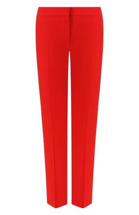 Женские брюки со стрелками ALEXANDER MCQUEEN красного цвета, арт. 536679/QME40 | Фото 1 (Материал внешний: Синтетический материал; Женское Кросс-КТ: Брюки-одежда; Силуэт Ж (брюки и джинсы): Прямые)