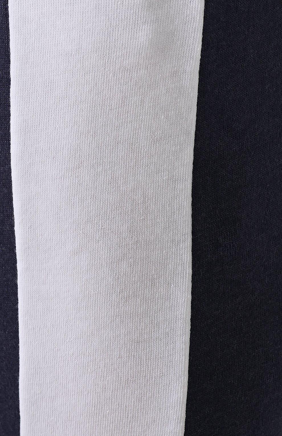Хлопковые джоггеры с лампасами Wildfox темно-синие | Фото №5