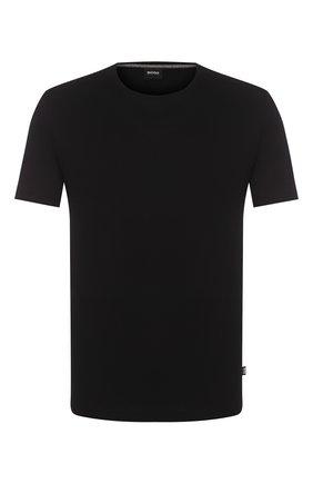 Мужская хлопковая футболка BOSS черного цвета, арт. 50379310   Фото 1