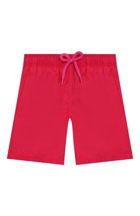 Детские плавки-шорты VILEBREQUIN красного цвета, арт. JIME9D03 | Фото 1