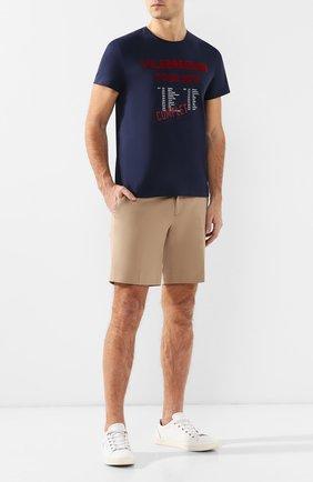 Мужская хлопковая футболка VILEBREQUIN темно-синего цвета, арт. TAOE9P02 | Фото 2