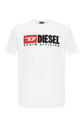 Мужская хлопковая футболка  DIESEL белого цвета, арт. 00SH0I/0CATJ | Фото 1