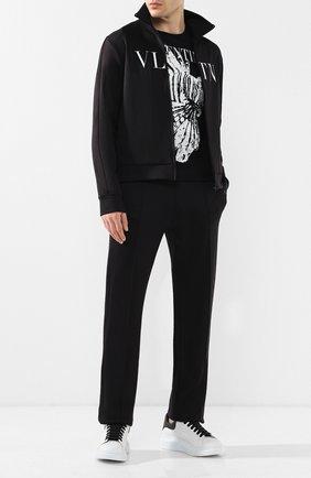Мужские кожаные кеды ALEXANDER MCQUEEN черно-белого цвета, арт. 552064/WHTQ8 | Фото 2