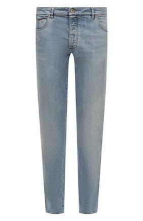 Мужские джинсы прямого кроя BRUNELLO CUCINELLI голубого цвета, арт. M283PJ2010 | Фото 1