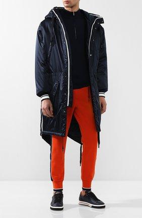 Мужские кожаные кеды roma DOLCE & GABBANA темно-синего цвета, арт. CS1572/AN175 | Фото 2