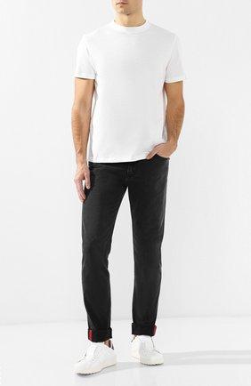 Мужская хлопковая футболка  VALENTINO белого цвета, арт. RV3MG08Y3LE | Фото 2