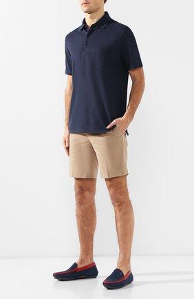 Мужские кожаные мокасины ZILLI синего цвета, арт. MDP-M007/018 | Фото 2