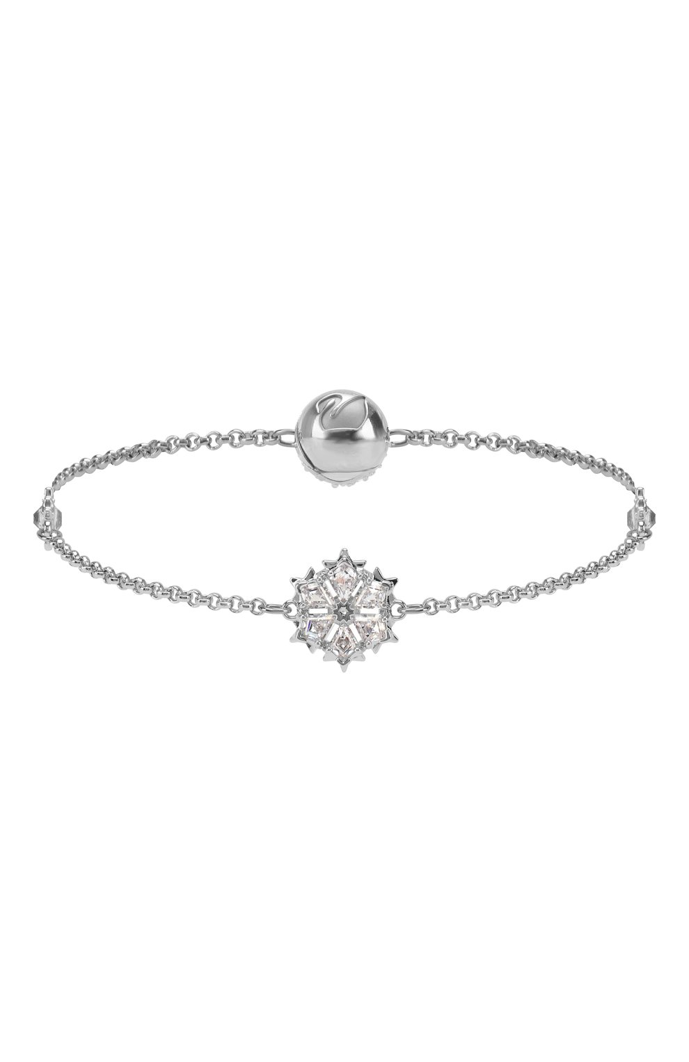 Женский браслет remix collection snowflake SWAROVSKI серебряного цвета, арт. 5432735 | Фото 1