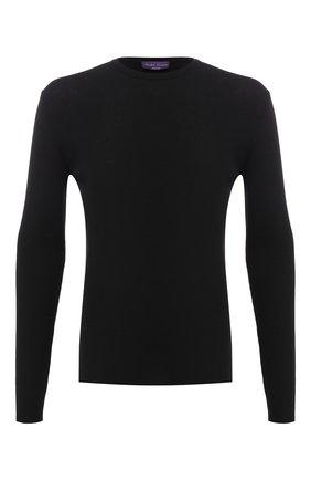 Мужской шерстяной джемпер тонкой вязки RALPH LAUREN черного цвета, арт. 790714518 | Фото 1